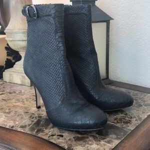 Via Spiga Exotic embossed Leather boots